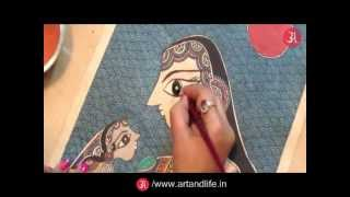 How to draw Madhubani Painting
