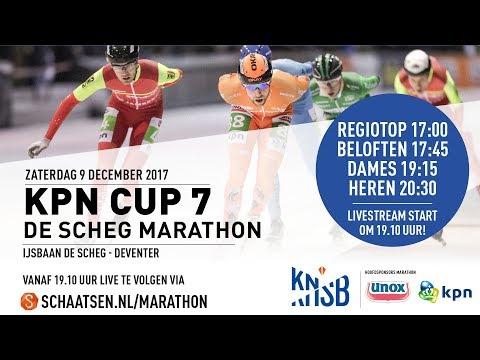 Livestream KPN Marathon Cup 7 Deventer 9 december 2017