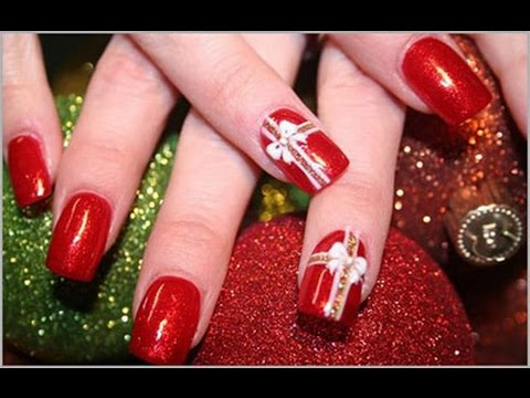 Christmas Present Nail Art Designs Ideas Youtube