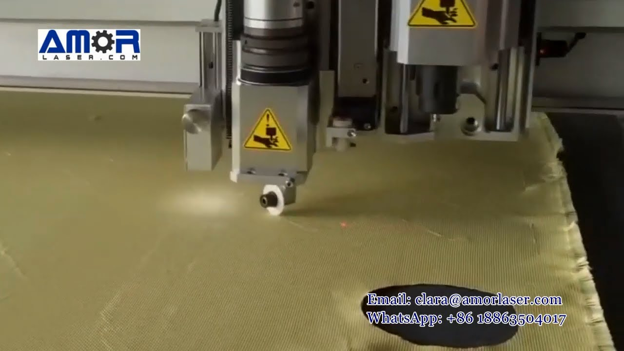 Kevlar Ballistic Material Fabric Cutting Aramid Fiber Cutting With Amor Cnc Fabric Cutting Machine Youtube
