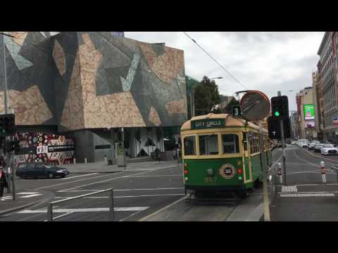 Melbourne Trams, Melbourne, Victoria, Australia - September 2016