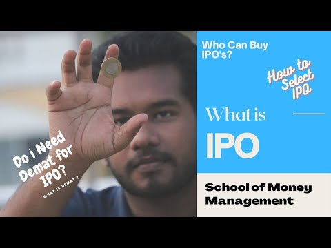 What is IPO? Who Can Apply for IPO? - School of Money Management ( Tamil )
