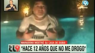Maradona abrió las puertas de su casa en Dubai