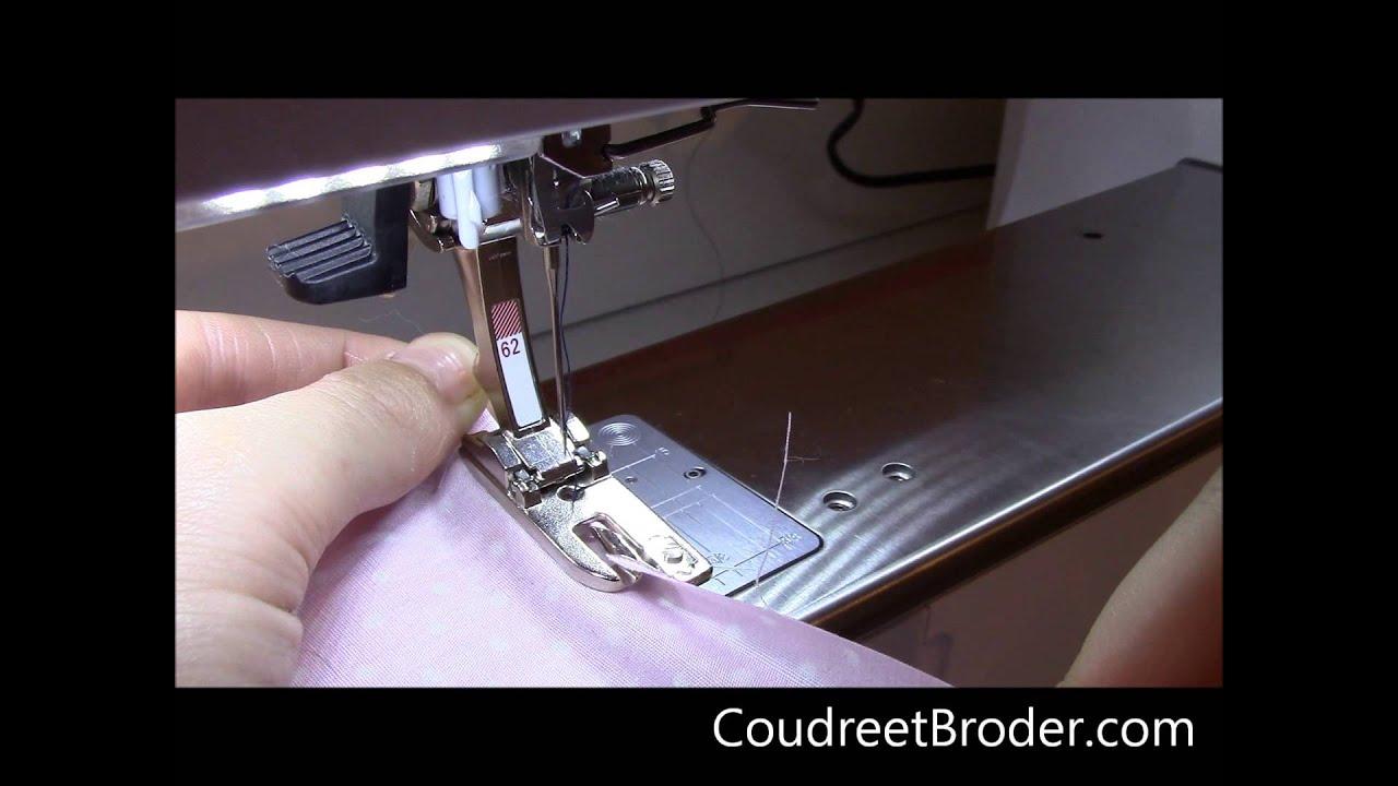 Le pied de biche pour ourlet roul youtube - Rehausseur pour pied de table ...