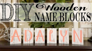 DIY Wooden Name Blocks | Nursery Decor