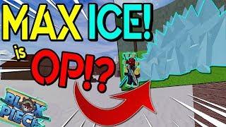 MAX LEVEL ICE / HIE DEVILFRUIT FULL SHOWCASE!| BLOX PIECE | ROBLOX | ICE DEVILFRUIT!?