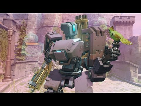 Bastion Defends a Castle (Overwatch Competitive)
