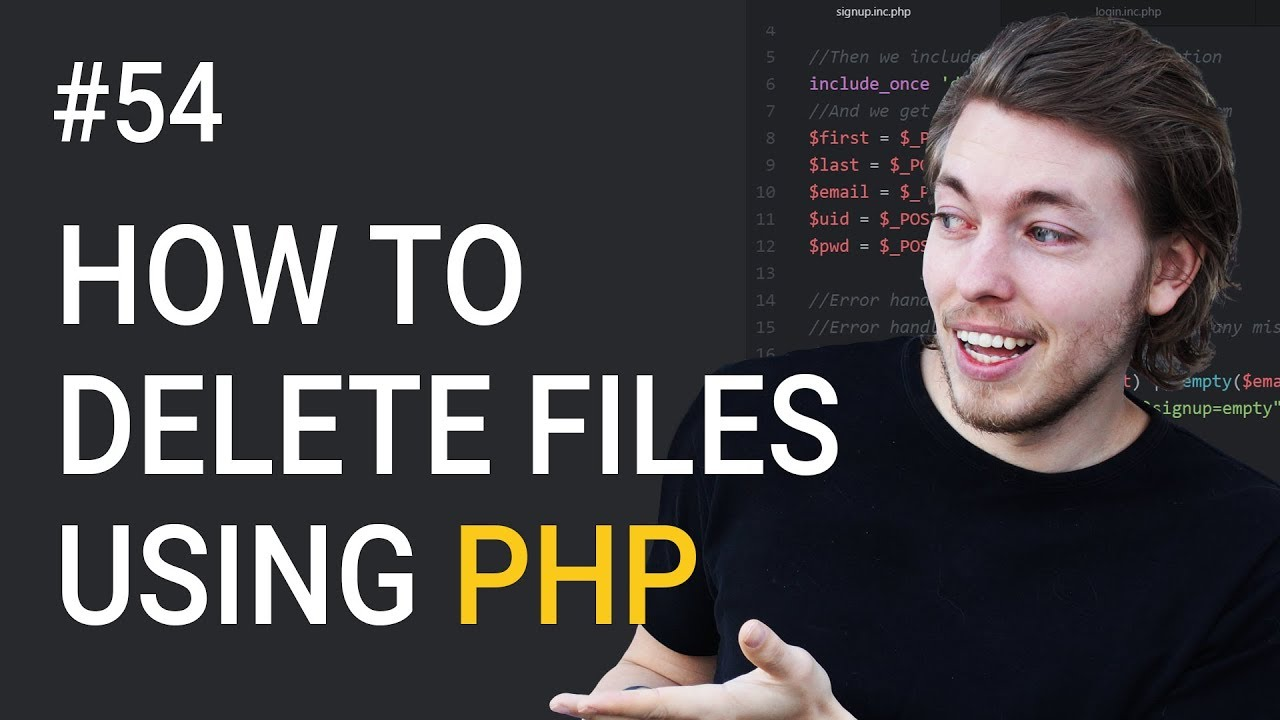 54: How to delete files from folder - PHP tutorial