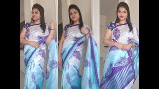 SINGLE PLEAT SAREE DRAPING WITH TRICKS TO HANDLE FOR BEGINNERS