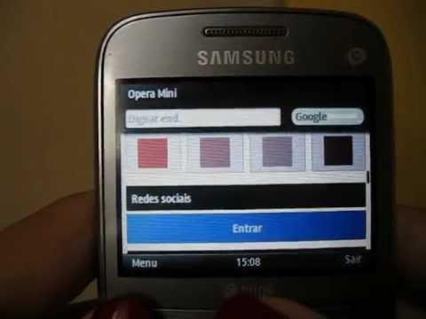 Samsung Ch@t 357 - acesso internet: wi-fi e facebook