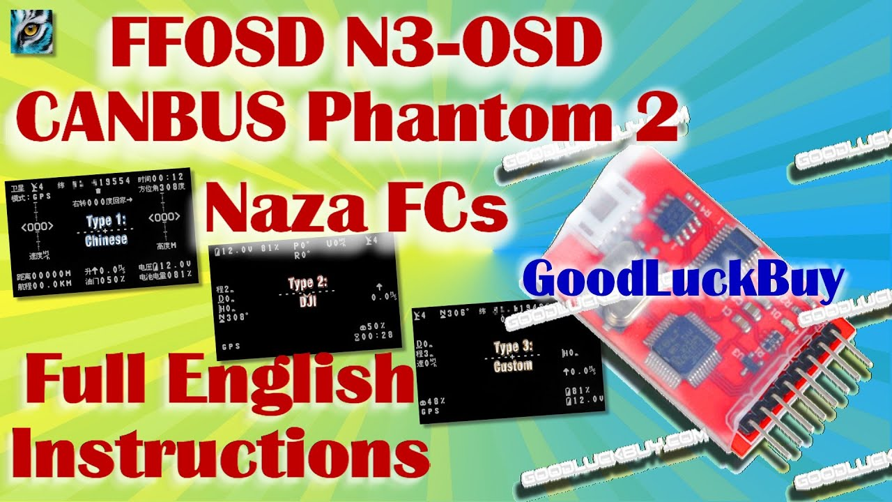 Naza Osd Wiring Diagram Trusted 2 Dji Phantom Ffosd N3 Fc English Instructions Canbus Electrical