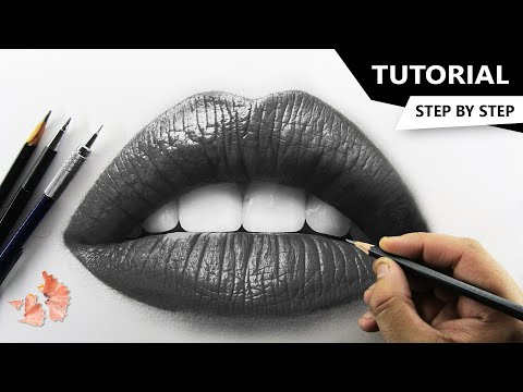 How To Draw Realistic Lips Tutorial For Beginners Youtube