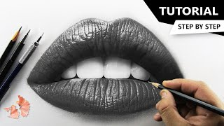How to Draw Realistic LIPS | Tutorial for BEGINNERS