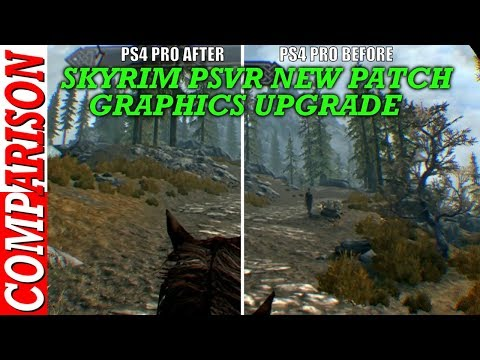 Skyrim PSVR Graphics Upgrade BEFORE AND AFTER NEW PATCH