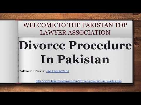Professional Lawyer For Divorce Procedure In Pakistan