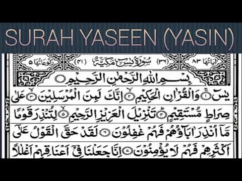 Surah Yasin Or Yaseen Sharif Quran Islaam Youtube