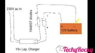Making of 12V Battery Charger with few easy steps