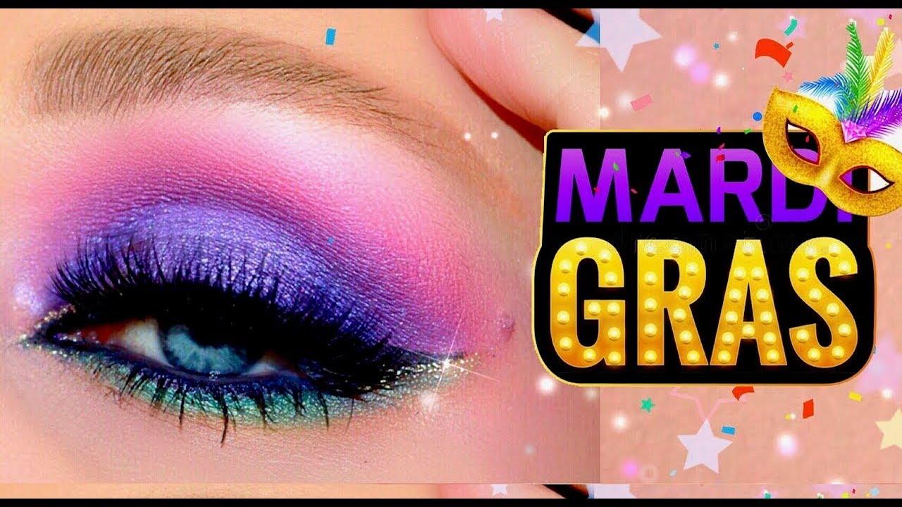 Ultraviolet Mardi Gras Eye Tutorial Purple Green Gold Spotlight