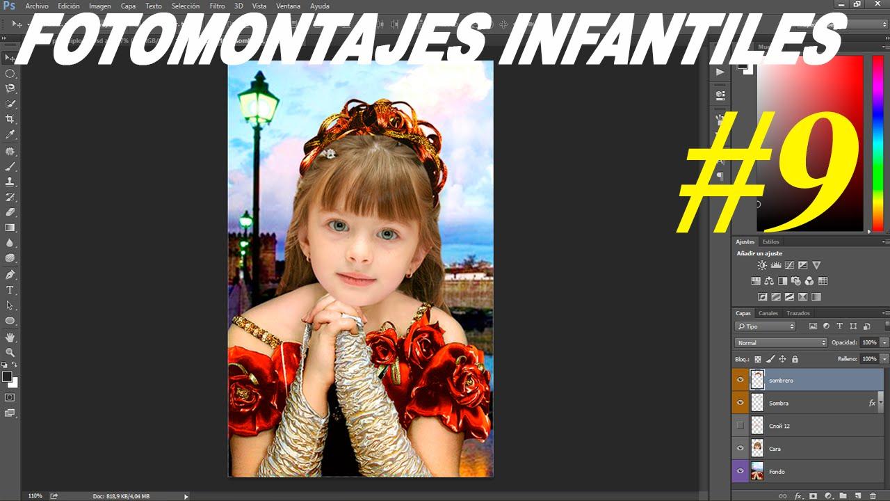 Plantillas psd para fotomontajes niños y niñas - Plantillas para ...