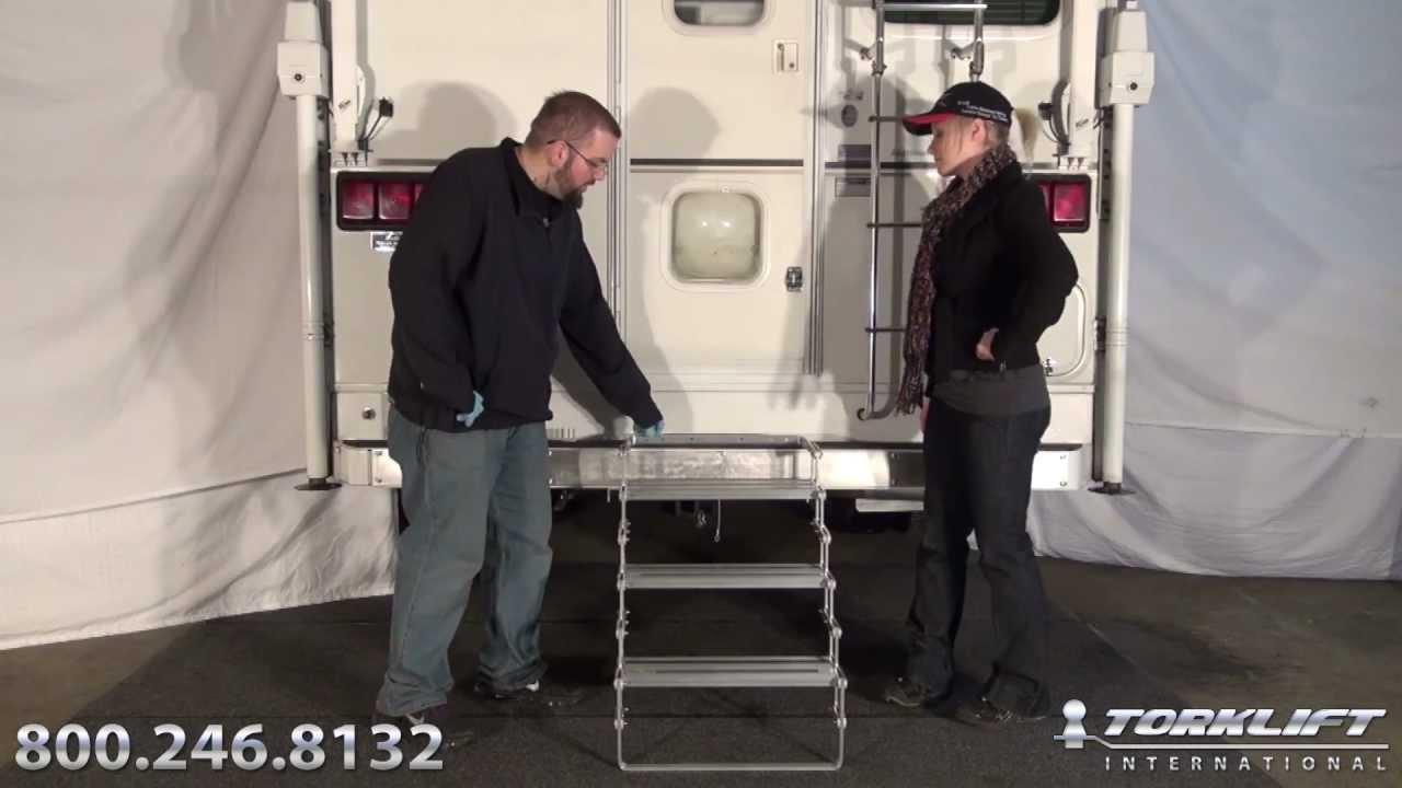 Torklift International Glowstep Truck Camper Steps Youtube