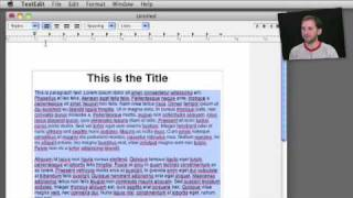 Using TextEdit For Casual Word Processing (MacMost Now 379)