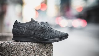 """Review & On-Feet: Nike Flyknit Racer """"Triple Black"""""""