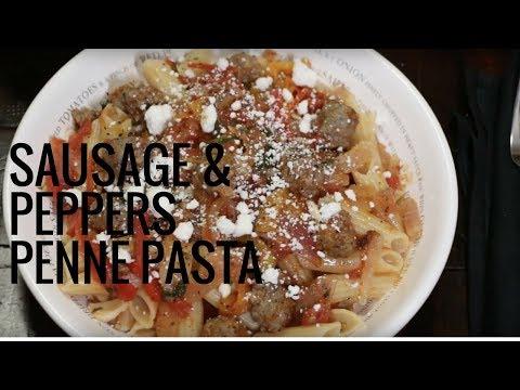 Carando Sausage & Peppers over Penne Pasta Recipe