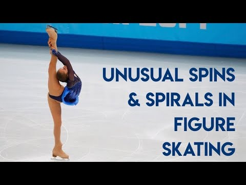 Unusual Spins and Spirals in Figure Skating