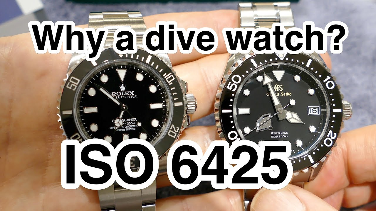 iso 6425 certified dive watches