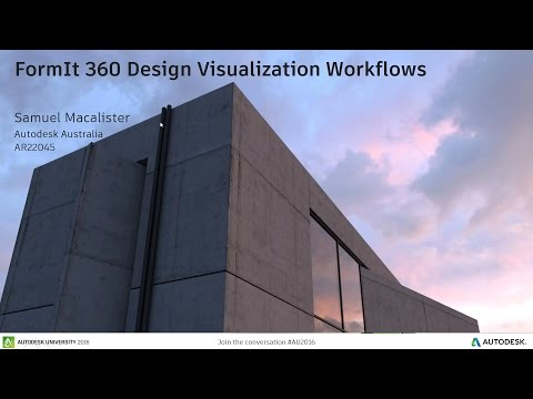 FormIt Friday - Episode 21 - Design Visualization Workflows