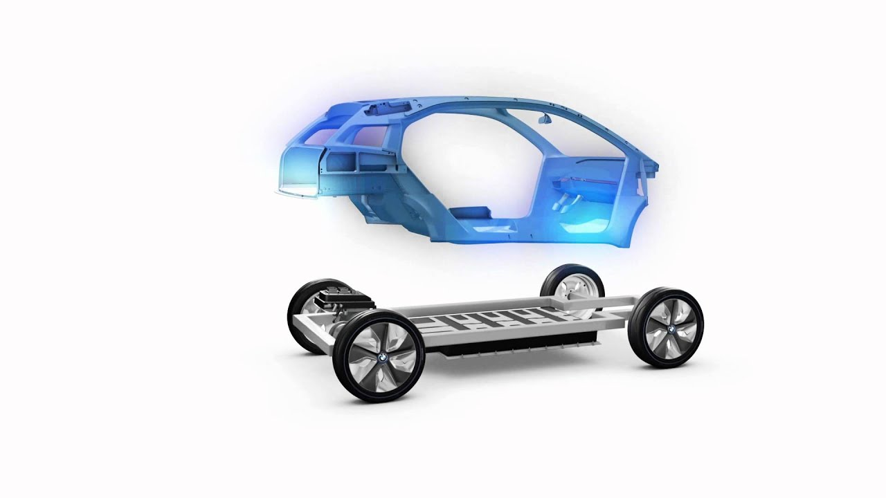 BMW I3 Concept, how it\'s built, with a body on frame - YouTube