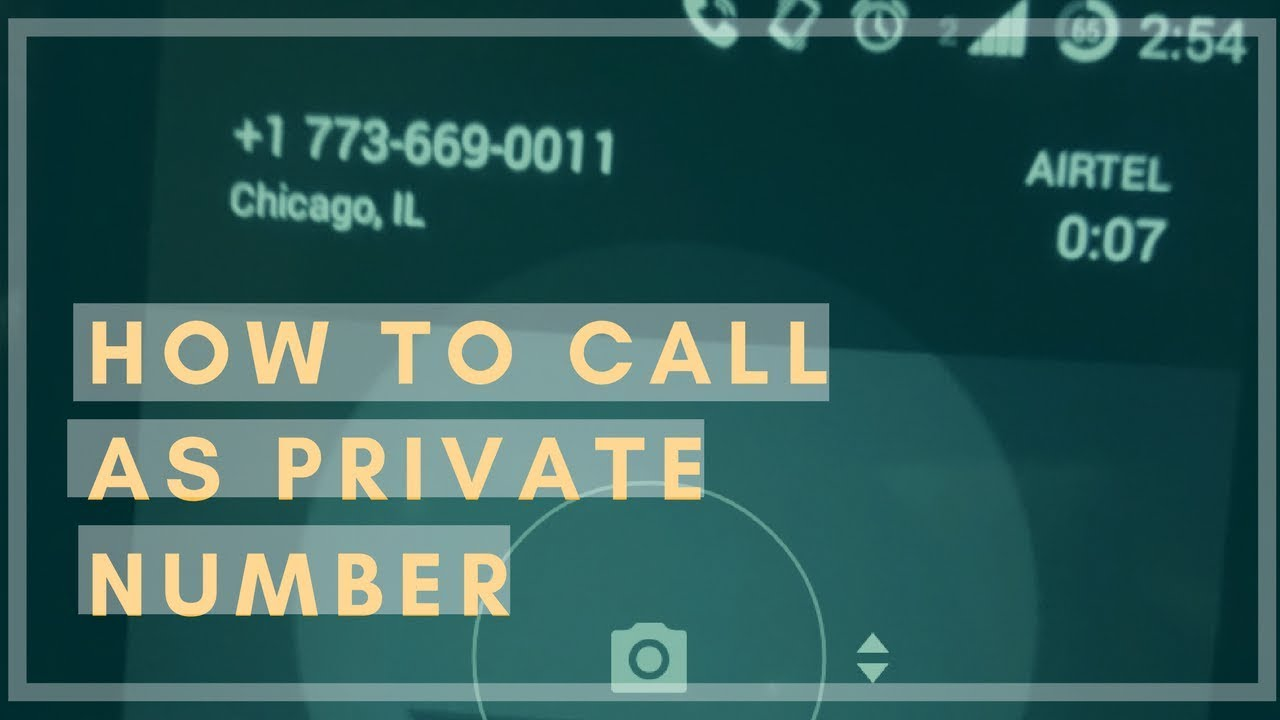 how to reveal private number