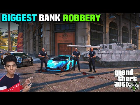GTA 5 : TECHNO GAMERZ HELP ME FOR 5.7 MILLION DOLLERS ROBBERY 🤑