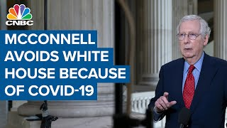 Senate Majority Leader Miтch McConnell avoids the White House because of Covid-19