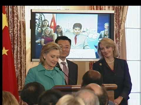 Secretary Clinton Celebrates U.S.A. Pavillion Opening at 2010 Shanghai Expo
