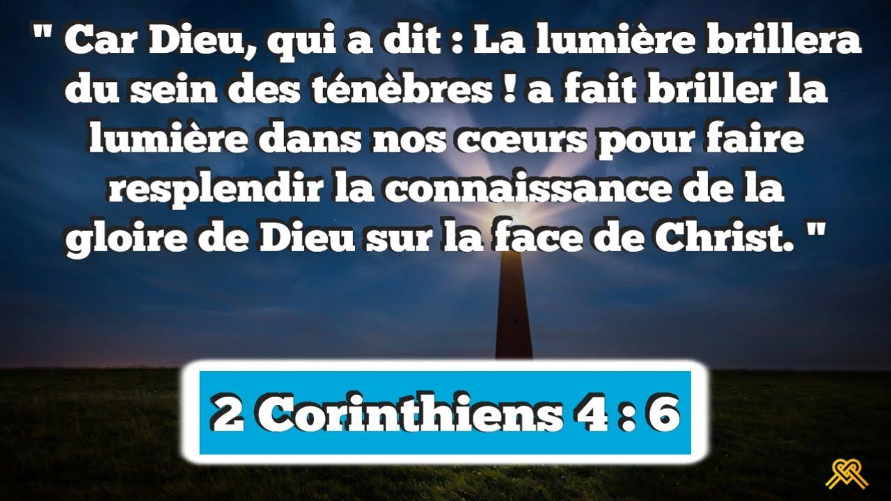 Prière inspirée du jour #103 – 2 Corinthiens 4 : 6 - YouTube