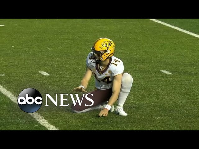 4-time cancer survivor takes college football field for 1st time