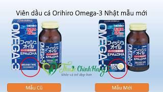 Viên dầu cá Omega-3 Orihiro Nhật Bản 180 Viên chính hãng