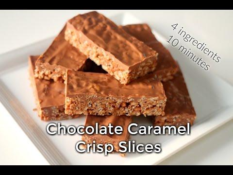 Chocolate Caramel Crispy Slices- EXTRA EASY!