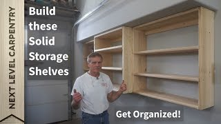 Get Organized with Simple Solid Storage Shelves