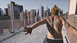 New York  Rooftop freerunning (drawing style)