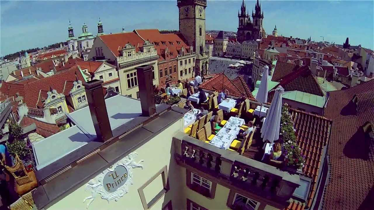 Hotel u prince roof top restaurant czech republic youtube for Terrace u prince prague