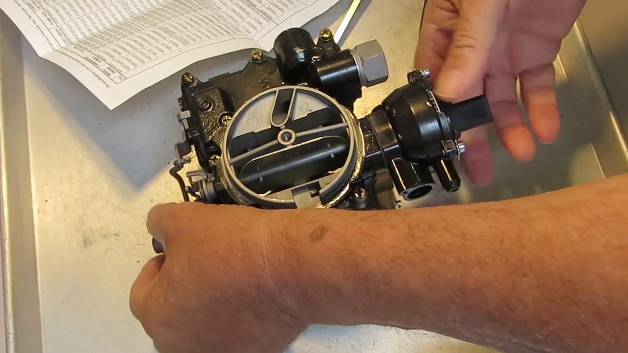 mercarb marine carburetor 2 barrel adjust choke [ 1280 x 720 Pixel ]