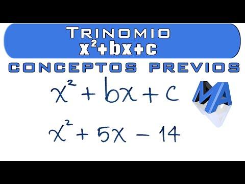 Factorización Trinomios De La Forma X2+bx+c | Conceptos Previos