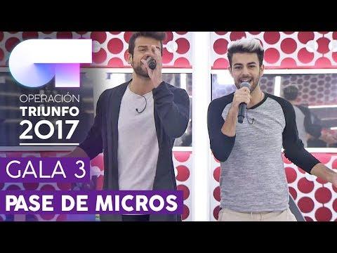 """""""MIENTES"""" - Ricky y Agoney - Primer pase de micros Gala 3   OT 2017"""