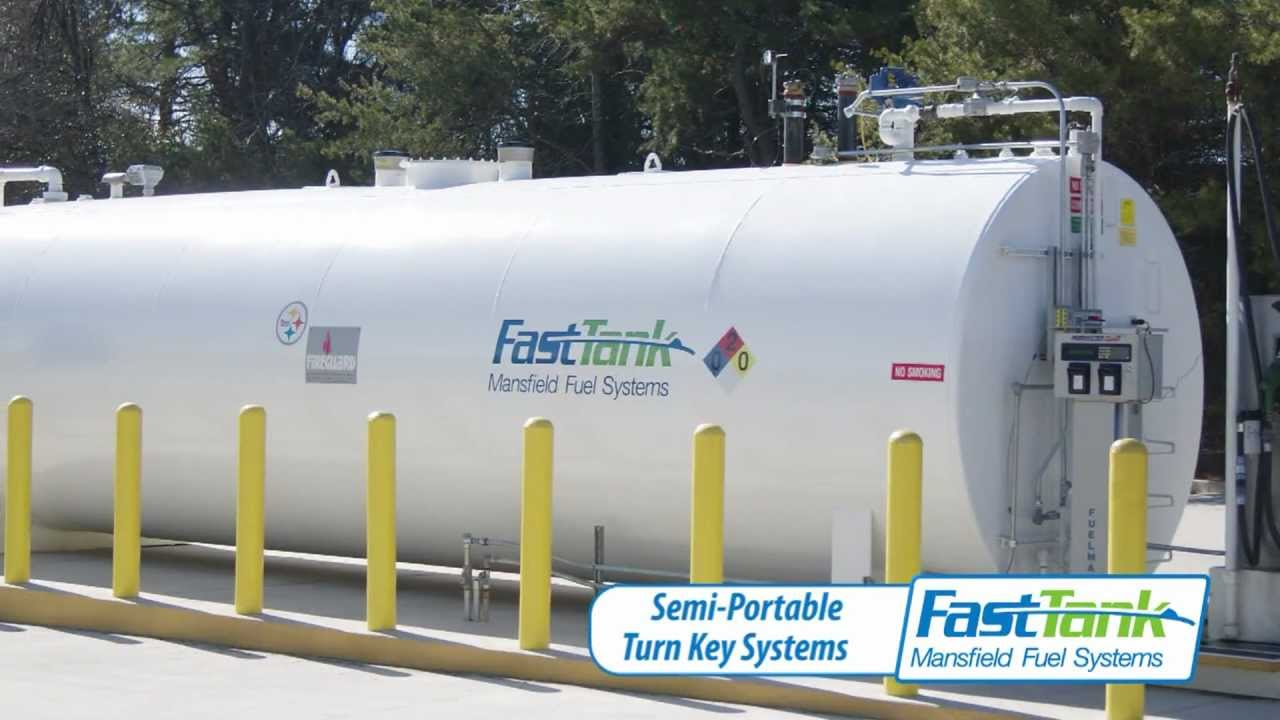 Above Ground Fuel Tank : Fast Tank Mansfield - YouTube