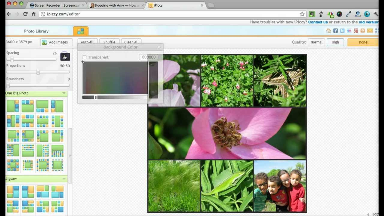 how to make a collage in iphoto