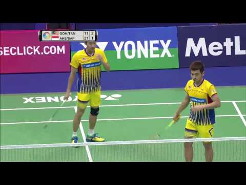 Yonex Sunrise Hong Kong Open 2016 | Badminton QF M5-MD | Goh/Tan vs Ahs/Sap
