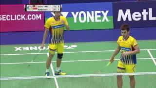Yonex Sunrise Hong Kong Open 2016   Badminton QF M5-MD   Goh/Tan vs Ahs/Sap