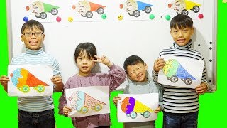Hunter Kids Go To School Learn Colors ICE CREAM CAR | Classroom Funny Nursery Rhymes